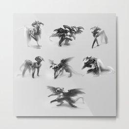 Dragon Sketches Metal Print