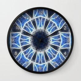 Blue Kaleidoscope 3 Wall Clock