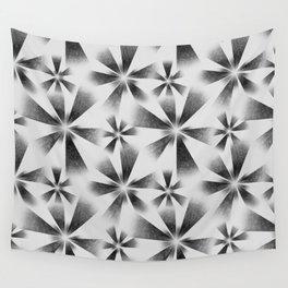 Fragmented White Burst Wall Tapestry