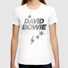 Glam Rock Bowie grey T-shirt