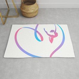 Rhythm of a Gymnast's Heart Rug