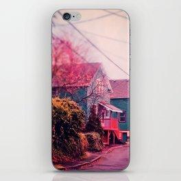 Astoria Oregon Neighborhood Houses, Grand Street in October iPhone Skin