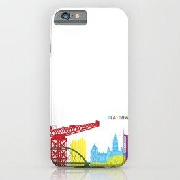 Glasgow skyline pop iPhone Case