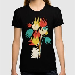 Hedgehog with flowers T-shirt