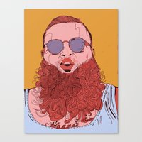 action bronson Canvas Prints featuring Action Bronson by Dewey Bryan Saunders