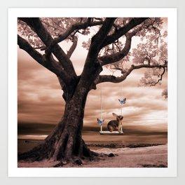 Woodland swing Art Print