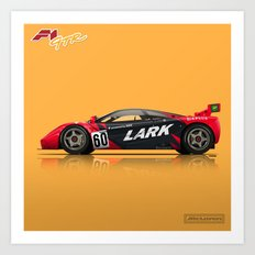McLaren F1 GTR #13R - 1996 Le Mans - Side View Art Print