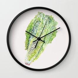 Spring Cabbage - Neutral Wall Clock