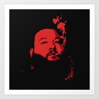 action bronson Art Prints featuring Action Bronson by fastestslothalive
