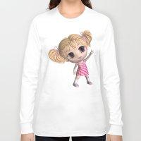 chibi Long Sleeve T-shirts featuring Chibi Girl by ChibiGirl