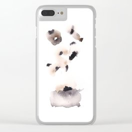 Temperance- 151124  Abstract Watercolour Clear iPhone Case