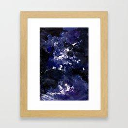 galaxy in blue Framed Art Print