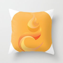 Solar plexus chakra | fire Throw Pillow
