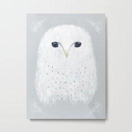 Moonface owl Metal Print