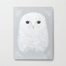 Moonface owl Metal Print