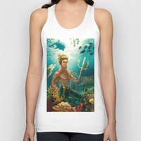 aquaman Tank Tops featuring Aquaman Black Lagoon (Dark Water Version)  by Brian Hollins art