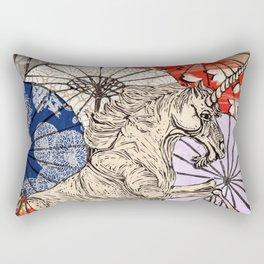 Unicorn Amongst Umbrellas XVII Rectangular Pillow