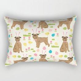 Brussels Griffon cute easter dog pattern cute pet portrait dog art dog breeds by pet friendly Rectangular Pillow