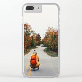 Death's Winding Door Clear iPhone Case