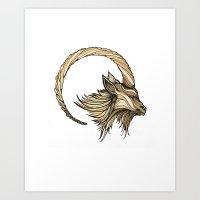 I is for Ibex Art Print