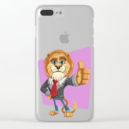 Classy Old Lion Clear iPhone Case