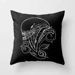 Filigree Alien Xenomorph Throw Pillow