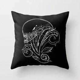 Filigree Alien Xenomorph Throw Pillow