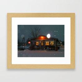 Veikkola Kiosk Framed Art Print