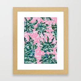 LEVEL UP LYRICS & PALM TREE Framed Art Print