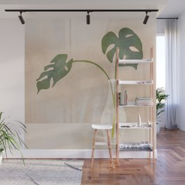 A Couple of Monstera Leaves Wall Mural