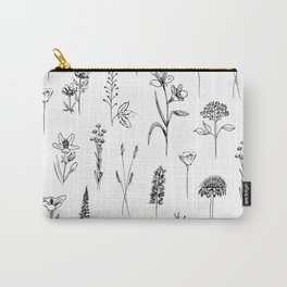 Patagonian wildflowers white Carry-All Pouch