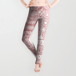 Pink mandala elephant Leggings