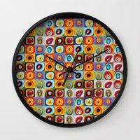 kandinsky Wall Clocks featuring Farbstudie Quardrate by Wassily Kandinsky by designforme