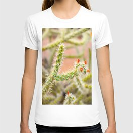 Tiny Baby Cactus With Red Flowers T-shirt