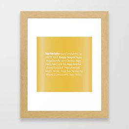 Happy Holidays! in Gold Framed Art Print