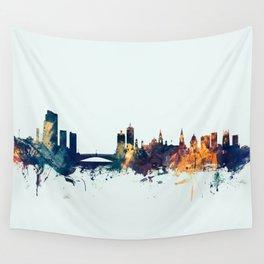 Leeds England Skyline Wall Tapestry