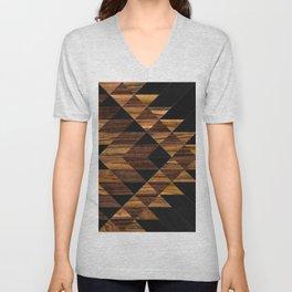 Urban Tribal Pattern 11 - Aztec - Wood Unisex V-Neck