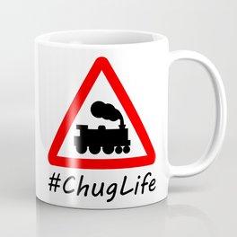 #ChugLife Warning Train Coffee Mug