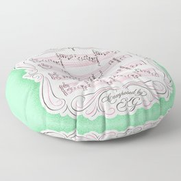 The Sound of My Heart Beat Floor Pillow