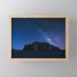 Milky Way Over Wadi Rum Framed Mini Art Print