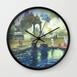 Painting by Niladri Roy for OSA NY/NJ Chapter 2018 Kumar Purnima Wall Clock