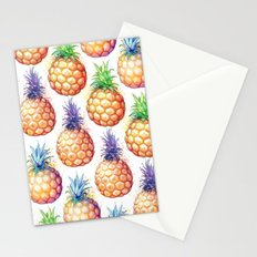 Fat Pineapples Pattern Stationery Cards