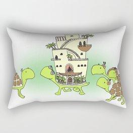 Green with envy Rectangular Pillow