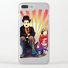The Tramp and the Kid Clear iPhone Case