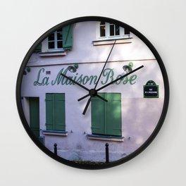 La Maison Rose Montmartre Paris Wall Clock