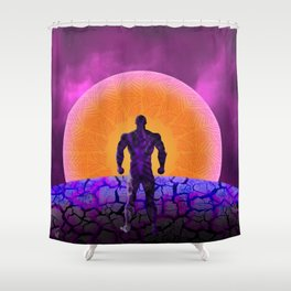 Black Panther Sunset Shower Curtain