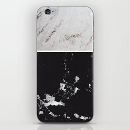 White Glitter Marble & Black Marble #1 #decor #art #society6 iPhone Skin