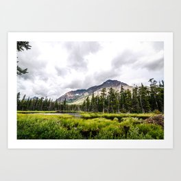 In the Mountains Art Print