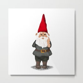 Hangin with my Gnomies - FU Metal Print