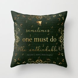 Stolen Songbird Quote Throw Pillow